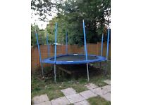 A14ft blue trampoline