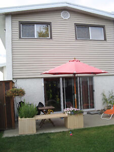 3 BDRM CONDO WITH YARD AND BASEMENT, WEST EDM. QUIET COMPLEX