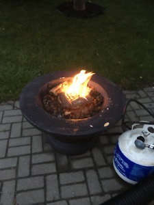 large outdoor propane fire place