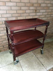 Solid Wooden Restaurant/ Hotel Waiter Trolley in great condition RRP £300