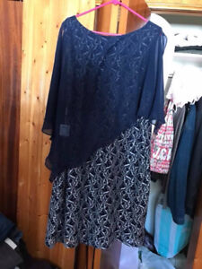 Mother of the bride navy dress, size 20 new with tags