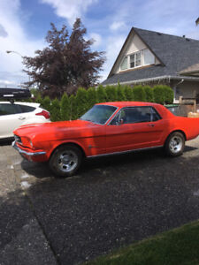 1964-1/2 mustang for sale great shape no rust. 12500.00 or best