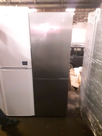 SIEMANS 6FT TALL STAINLESS STEEL FRIDGE FREEZER FROST FREE 90 DAYS GUA