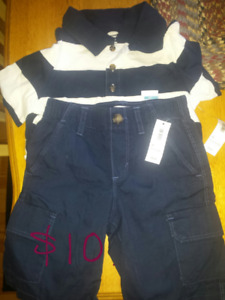 Boys 5T polo and cargo shorts