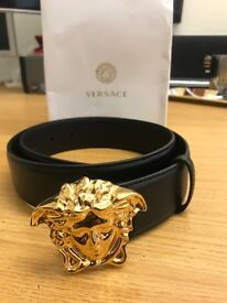 all designer belts 5vcz  Genuine Versace Medusa Men's Belt