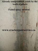 WET BASEMENT / FOUNDATION CRACK REPAIR SERVICE / KITCHENER AREA