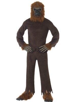 Gorilla Kostüm economy Affe Anzug 7-teilig Kostüm (Gorilla Kostüm Anzug)