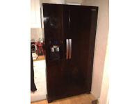 Samsung American style fridge & freezer black colour