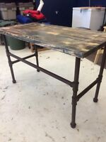 *reduced*Rustic industrial custom desk