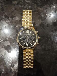 Michael Kors Men's Lexington watch, black dial