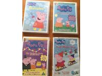Peppa Pig 4 X DVD Bundle