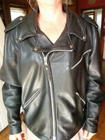 Harley Davidson, Motorcycle leather jacket, woman, size XL