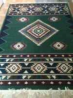 Green Aztec Style Area Rug