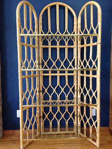 Bamboo Four Shelf Attach'e Display Unit