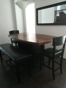 Wood Counter-Height Dining Set with Bench & 4 Stools $650 OBO