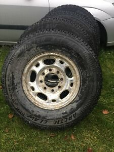 Four winter tires on rims 16 inch Prince George British Columbia image 1