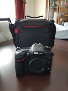 Nikon D7200 with 18-140mm lens + 35mm lens + lot of accessories