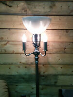 Antique Tri Light Floor Lamp with Candle bulbs