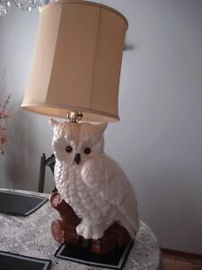 Ceramic Owl With Lamp