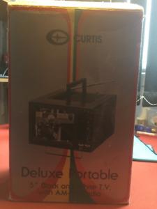 "Portable 5"" black and white TV"