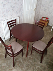 Mahogany Dining Table with Four Chairs