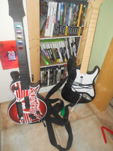 TWO GUITARS FOR X-BOX 360 OR COMPUTER,,