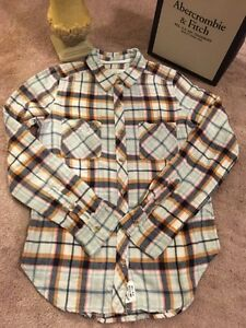 ABERCROMBIE & FITCH CLASSIC PLAID FLANNEL-NEW!