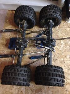 Set of 1/8 XTM X-factor axles for RC crawler project