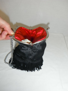 Vintage, Gorgeous Clutch Purse, Flapper Style, Black, Excellent
