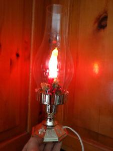 Oil lamp Christmas light electric décoration 'i ship' vintage