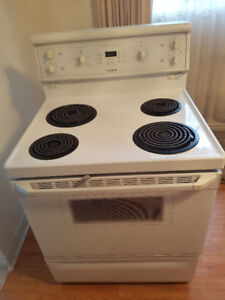30 inch  Beaumark white coil stove for sale