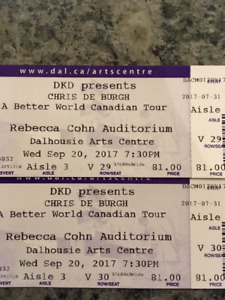Chris De Burgh Sept 20th Rebecca Cohn