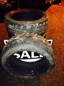 FOUR 225/45/17 tires, mixed, $160 obo.