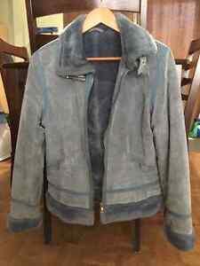 Danier Lined Suede Leather Jacket sm