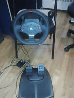 Logitech MOMO Racing  Wheel with Pedals and Stick Shifter