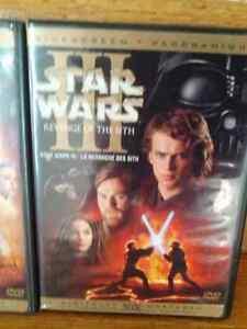 Star Wars I, II, III DVDs