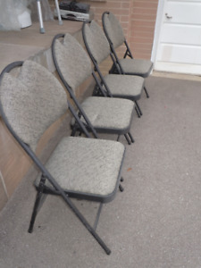 Folding Chairs (Costco) 4 for Sale