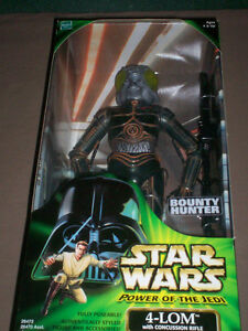 STAR WARS POWER OF THE JEDI 12 inch 4-LOM FIGURE MIB HASBRO
