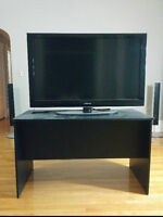 Black Wood TV Table/Stand