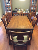 Dining Set (6 Chairs and a Table) and Buffet/Cabinet Set