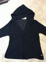 Black ROXY heathered pullover Size S