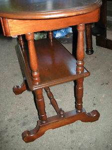 antique walnut hall or side table with drawer Oakville / Halton Region Toronto (GTA) image 3