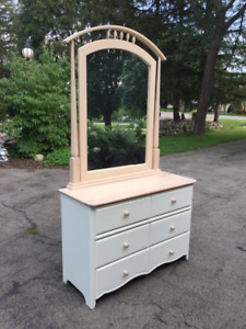 Girls bedroom set - White with Solid Birch tops