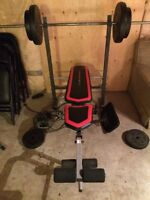 Bench set with weights