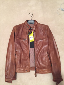 **Brand New/Never Worn** Men's Tan Leather Jacket