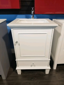 "24"" Solid Wood Vanity, w/ Stone Countertop - Hot deals!"