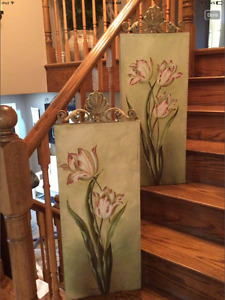 Wall Decor 3ft tall X 1 ft wide with detailing Priced for both