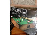 Pool snooker mini table