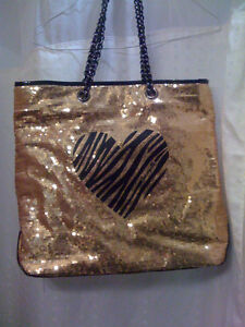 Betseyville by Betsey Johnson gold Sequins Tote Bag