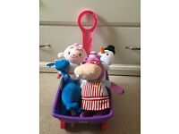 Doc McStuffins wagon and teddies